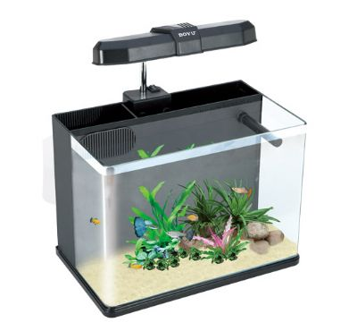 AQUARIO MINI BOYU ME-350 COM LED 19L PRETO 110V