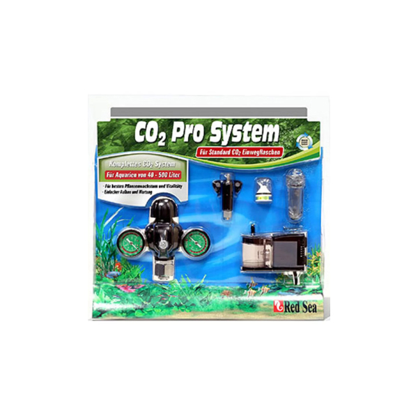CO2 KIT RED SEA PRO SYSTEM (REG, VALV, REATOR, DIFUSOR, INDICADOR CO2)