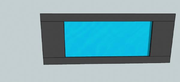 Aquário de Parede 180x20x70cm